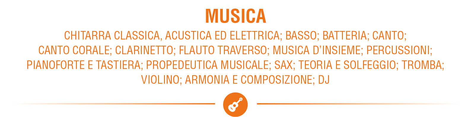 Accademia 4Accordi lista corsi Musica