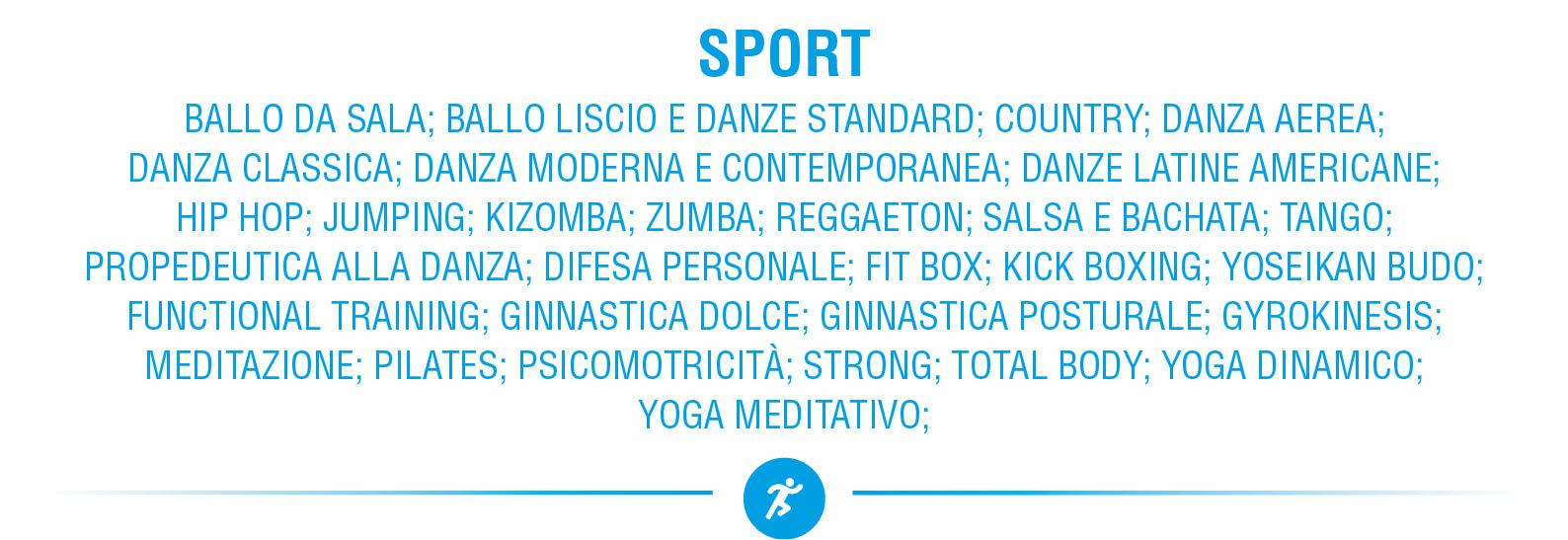 Accademia 4Accordi lista corsi Sport