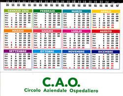 Calendario regalo per i soci CAO