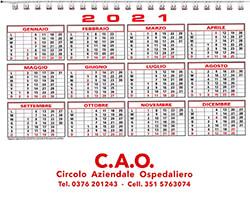 Calendario regalo per i soci CAO 2021